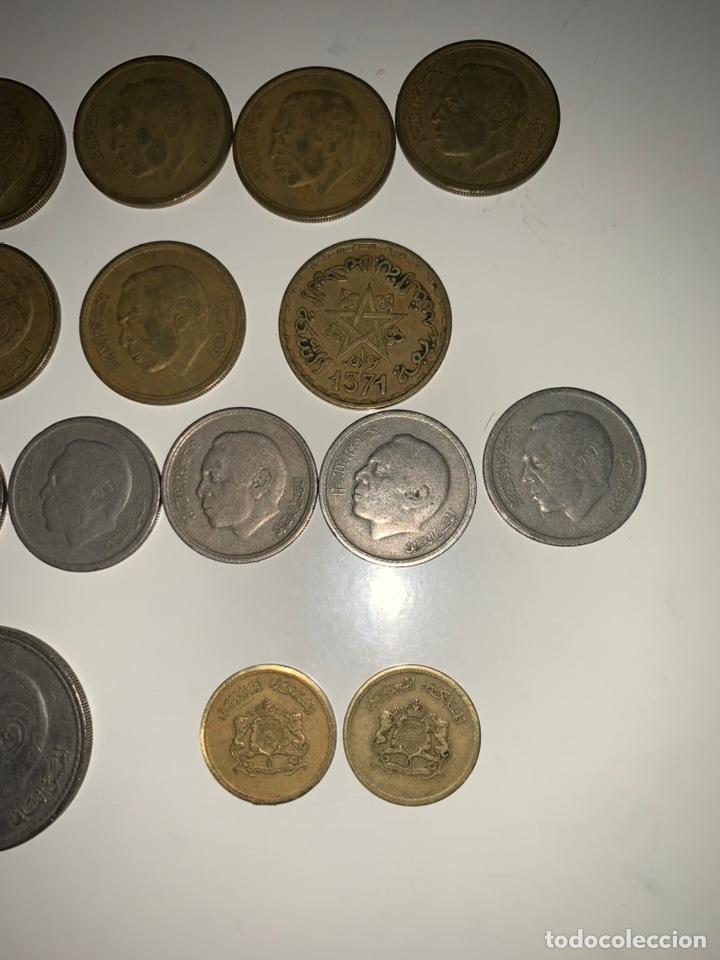 Monedas antiguas de África: Lote 19 monedas dirham francs Marruecos - Foto 6 - 202884282