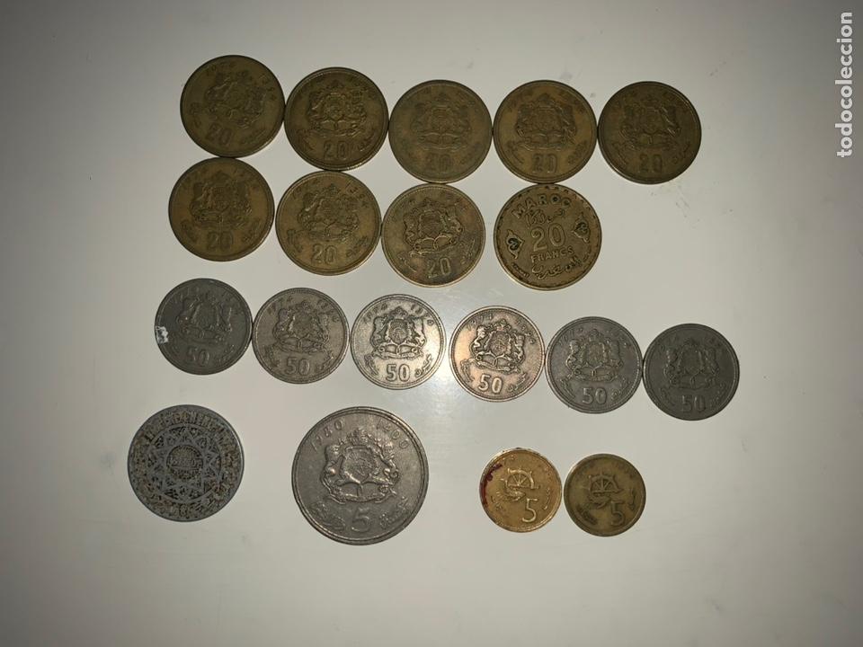 LOTE 19 MONEDAS DIRHAM FRANCS MARRUECOS (Numismática - Extranjeras - África)