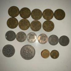Monedas antiguas de África: LOTE 19 MONEDAS DIRHAM FRANCS MARRUECOS. Lote 202884282
