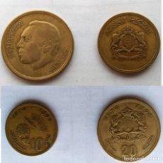 Monedas antiguas de África: MARRUECOS, 2 MONEDAS DE 10 Y 20 * 1974-1394. Lote 203106727
