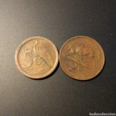 Monedas antiguas de África: LOTE DE 2 MONEDAS DE SUDÁFRICA AÑOS 1974 Y 1991. Lote 203793497