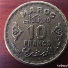 Monedas antiguas de África: MONEDA MARRUECOS 10 FRANCOS 1952 (1371).. Lote 204198092