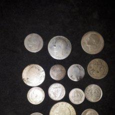 Monedas antiguas de África: LOTE DE POCO MÁS DE 38 GRAMOS,DE MONEDAS DE PLATA, ESPAÑA, AMERICA ESPAÑOLA, AMÉRICA, ÁFRICA, EUROPA. Lote 205372827