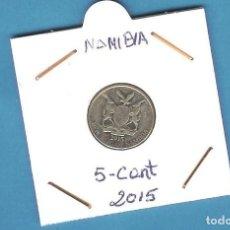 Monedas antiguas de África: NAMIBIA. 5 CENT 2015. ACERO BAÑADO EN NIQUEL. KM#1. Lote 206229852
