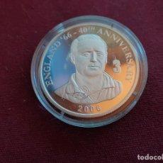 Monedas antiguas de África: REPÚBLICA DEMOCRÁTICA DEL CONGO. 10 FRANCS DE 2006. FÚTBOL ENGLAND 1966. PLATA PURA DE 999 MILÉSIMAS. Lote 206340931