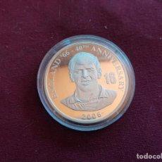 Monedas antiguas de África: REPÚBLICA DEMOCRÁTICA DEL CONGO. 10 FRANCS DE 2006. FÚTBOL ENGLAND 1966. PLATA PURA DE 999 MILÉSIMAS. Lote 206340958