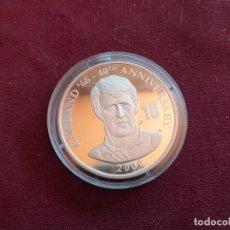 Monedas antiguas de África: REPÚBLICA DEMOCRÁTICA DEL CONGO. 10 FRANCS DE 2006. FÚTBOL ENGLAND 1966. PLATA PURA DE 999 MILÉSIMAS. Lote 206341017