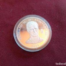 Monedas antiguas de África: REPÚBLICA DEMOCRÁTICA DEL CONGO. 10 FRANCS DE 2006. FÚTBOL ENGLAND 1966. PLATA PURA DE 999 MILÉSIMAS. Lote 206341113