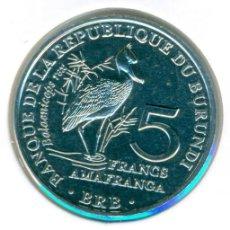 Moedas antigas de África: BURUNDI 5 FRANCOS 2014 ( SC ) KM # 30 - BALAENICEPS REX - PICOZAPATO. Lote 206393440