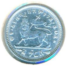 Moedas antigas de África: ETIOPÍA 1 GHERSH EE 1895 - 1903 A ( MBC+ ) KM # 12 - MENELIK II - PLATA. Lote 206394183