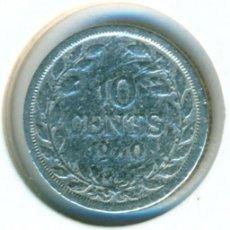 Moedas antigas de África: LIBERIA 10 CÉNTIMOS 1960 ( RC ) KM # 15 - PLATA. Lote 206394327