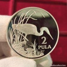 Monedas antiguas de África: BOTSWANA 2 PULA SLATY EGRET 1986 KM 18 PLATA PROOF. Lote 206770885