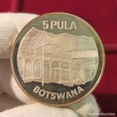 Monedas antiguas de África: BOTSWANA 5 PULA INDEPENDENCE 1976 KM 9A PLATA PROOF. Lote 206772016