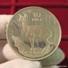 Monedas antiguas de África: BOTSWANA 10 PULA KLIPSPRINGER 1978 KM 12A PLATA PROOF. Lote 206772653