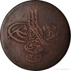 Monedas antiguas de África: MONEDA, EGIPTO, ABDUL AZIZ, 20 PARA, 1867/AH1277, BC+, BRONCE, KM:244. Lote 207082352