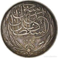 Monedas antiguas de África: MONEDA, EGIPTO, HUSSEIN KAMIL, 10 PIASTRES, 1917, MBC, PLATA, KM:320. Lote 207087108