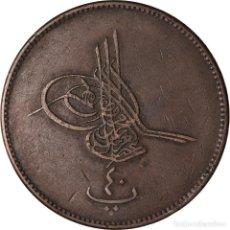 Monedas antiguas de África: MONEDA, EGIPTO, ABDUL AZIZ, 40 PARA, QIRSH, 1277//10, MISR, MBC, BRONCE. Lote 207087136