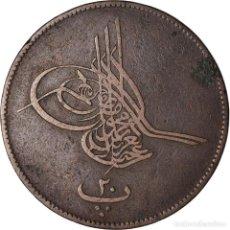 Monedas antiguas de África: MONEDA, EGIPTO, ABDUL AZIZ, 20 PARA, 1863, BC+, BRONCE, KM:244. Lote 207087605