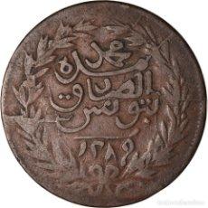 Monedas antiguas de África: MONEDA, TÚNEZ, TUNIS, SULTAN ABDUL AZIZ WITH MUHAMMAD AL-SADIQ BEY, 4 KHARUB. Lote 207092980
