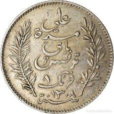Monedas antiguas de África: MONEDA, TÚNEZ, ALI BEY, FRANC, 1891, PARIS, MBC, PLATA, KM:224. Lote 207093133