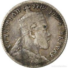 Monedas antiguas de África: MONEDA, ETIOPÍA, MENELIK II, GERSH, 1903, PARIS, BC, PLATA, KM:12. Lote 207094521