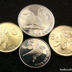 Monedas antiguas de África: ZAMBIA SERIE 5 10 50 NGWEE 1 KWACHA 2012 UNC. Lote 207104341