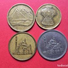 Monedas antiguas de África: X-2064 )EGIPTO,,4 MONEDAS DISTINTAS FECHAS Y TIPOS,, EN ESTADO MUY BUENO. Lote 207110883