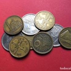 Monedas antiguas de África: X-2067 )EGIPTO,,9 MONEDAS DE 5 Y 10 PIASTRAS EN ESTADO MUY BUENO. Lote 207112402