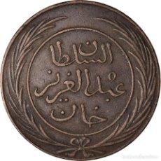 Monedas antiguas de África: MONEDA, TÚNEZ, TUNIS, SULTAN ABDUL AZIZ WITH MUHAMMAD AL-SADIQ BEY, 2 KHARUB. Lote 207113885