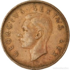 Monedas antiguas de África: MONEDA, SUDÁFRICA, GEORGE VI, 1/2 PENNY, 1952, BC+, BRONCE, KM:33. Lote 207144735