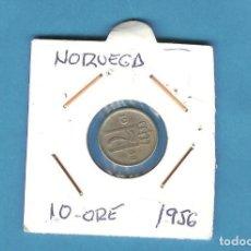 Monedas antiguas de África: NORUEGA. 10 ORE 1956. CUPRONÍQUEL. KM#396. Lote 208012922