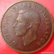 Monete antiche di Africa: SUDÁFRICA (ÁFRICA DEL SUR): JORGE VI, 1 PENIQUE DE 1938. KM#25, CU./ REV: BARCO (FOTO). Lote 208025732