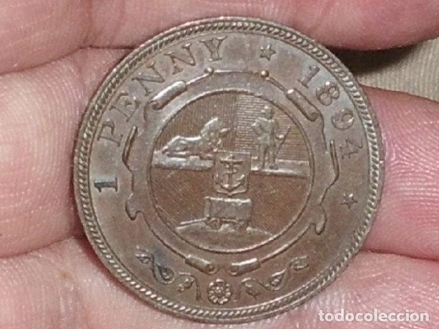 MONEDA DE SUDAFRICA 1 PENNY PAUL KRUGER 1894- RARA- (Numismática - Extranjeras - África)