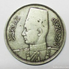 Monedas antiguas de África: EGIPTO, 1937 (AÑO 1356 DE LA EGIRA ARABE). MONEDA DE PLATA DE 10 PIASTRAS. REY FAROUK. LOTE 3187. Lote 209994223