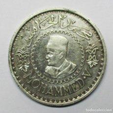 Monedas antiguas de África: MARRUECOS, 1956 (AÑO 1376 DE LA EGIRA ARABE). MONEDA DE PLATA DE 500 FRANCS. MOHAMMED V. LOTE 3189. Lote 209995235