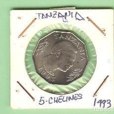 Monedas antiguas de África: TANZANIA. 5 CHELINES 1993. CUPRONÍQUEL. KM#6. Lote 210333642