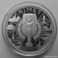 Monnaies anciennes d'Afrique: 200 PESETAS GUINEA ECUATORIAL 1970, RIMET MEXICO. Lote 227016295