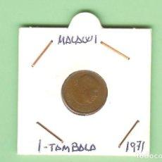Monedas antiguas de África: MALAWI. 1 TAMBALA 1971. BRONCE KM#7. Lote 210351702