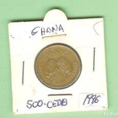 Moedas antigas de África: GHANA. 500 CEDISA1996. NÍQUEL Y LATON. KM#34. Lote 210617845