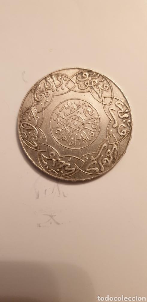 Monedas antiguas de África: 5 DIRHAM de PLATA de 1898. MARRUECOS - Foto 2 - 203997685