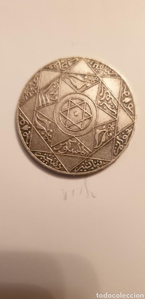 5 DIRHAM DE PLATA DE 1898. MARRUECOS (Numismática - Extranjeras - África)