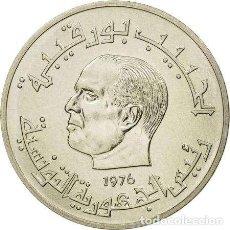 Monedas antiguas de África: TUNEZ - ESSAI - COLONIAS FRANCESAS, 1/2 DINAR 1976 - HABIB BOURGUIBA. Lote 211853758
