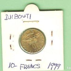 Monedas antiguas de África: DJIBOUTI. 10 FRANCS 1999. COBRE, ALUMINIO Y NÍQUEL. KM#23. Lote 211895016