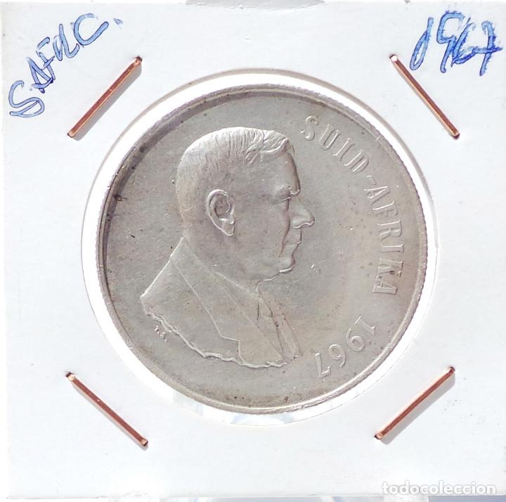 SUDAFRICA.- 1 RAND - 1967. (Numismática - Extranjeras - África)