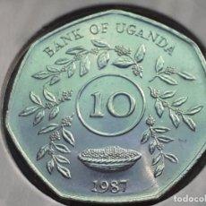 Monedas antiguas de África: UGANDA 10 CHELINES 1987 (SIN CIRCULAR). Lote 212250627