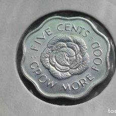 Monedas antiguas de África: SEYCHELLES 5 CENTAVOS 1975 (SIN CIRCULAR). Lote 212356756