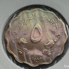 Moedas antigas de África: SUDAN 5 MILLIMES 1967. Lote 212358361