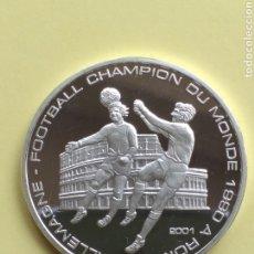 Monedas antiguas de África: REPÚBLICA DEL CONGO 1000 FRANCOS DE PLATA PROOF 2001. Lote 212608016