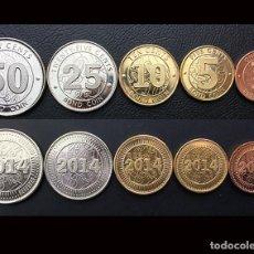 Monedas antiguas de África: ZIMBABUE 5 MONEDAS, 1 + 5 + 10 + 25 + 50 CENTAVOS, 2014, ÁFRICA- SIN CIRCULAR. Lote 213583798
