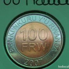 Monedas antiguas de África: RUANDA/RWANDA 100 FRANCOS 2007 (SIN CIRCULAR). Lote 195644998